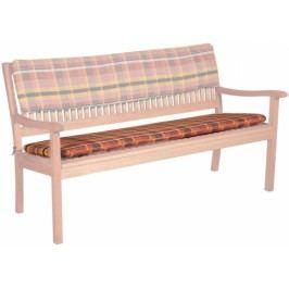 Sedák Doppler pro lavice, 2 místa - Káro/tera